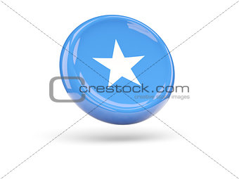 Flag of somalia. Round icon