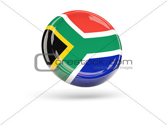 Flag of south africa. Round icon