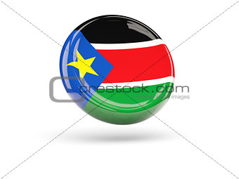 Flag of south sudan. Round icon