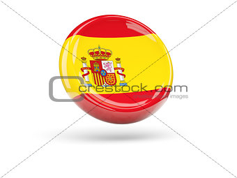 Flag of spain. Round icon