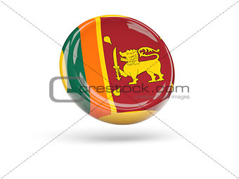 Flag of sri lanka. Round icon