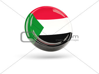 Flag of sudan. Round icon