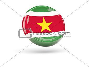 Flag of suriname. Round icon