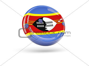 Flag of swaziland. Round icon