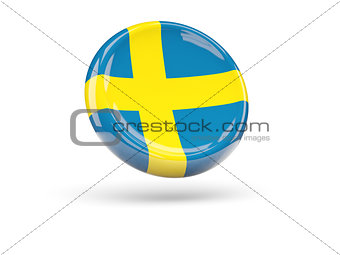 Flag of sweden. Round icon