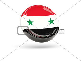 Flag of syria. Round icon