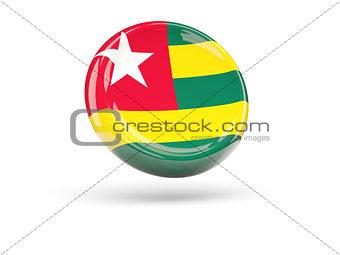 Flag of togo. Round icon