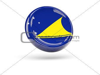 Flag of tokelau. Round icon