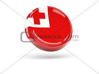Flag of tonga. Round icon