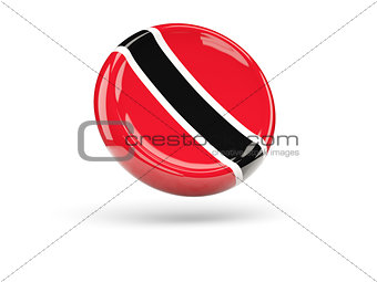 Flag of trinidad and tobago. Round icon
