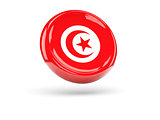 Flag of tunisia. Round icon