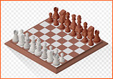 Isometric chess piece chessmen