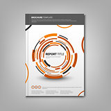 Brochures book or flyer with abstract orange rounds template