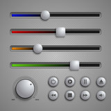 Web user elements silders and buttons template