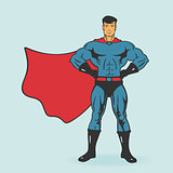 Super Hero Stand Vector Illustration