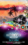 Club Disco Flyer template with Music Elements