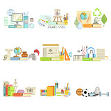 Different School Classes And Sciences Related Objects Cmpositions