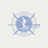 Skiing Club Emblem Design