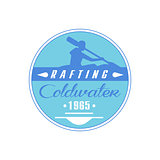 Rafting Coldwater Blue Emblem Design