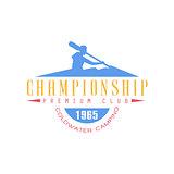 Rafting Championship Emblem Design