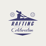 Coldwater Rafting Emblem Design