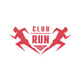 Run Club Geometric Red Label Design