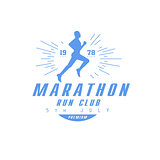 Marathon Running Blue Label Design