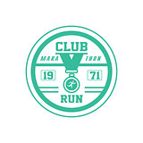 Running Club Green Label Design