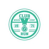 Running Club Green Label Design