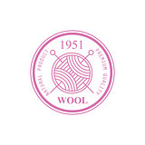 Wool Pink Product Logo Design