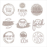Organic Farm Food Grey Logo Set