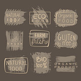 Eco Glute Free Bio Food Grey Logo Set