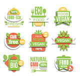 Healthy Vegan Organic Food Promo Sign Set