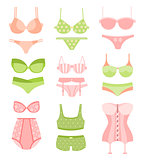 Women Underwear In Pastel Colors Matching Sets