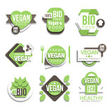 Bio Natural Vegan Product Logo Collection