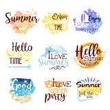 Summer Beach Holidays Colorful Label Set