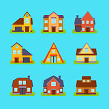 Suburban Real Estate Houses Collection