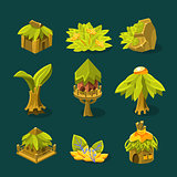 Video Game Tropical Jungle Design Collection Of Element