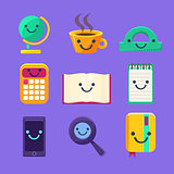 Office Desk Supplies Set Of Characters