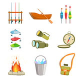Fishing And Camping Equipment Set