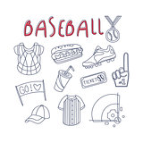 Baseball Related Object And Inventory Set