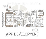 App Development Process Elements Creative Sketch Infographic