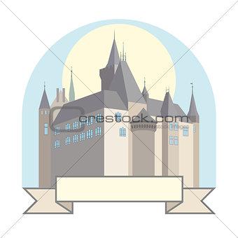 Castle with a bridge.
