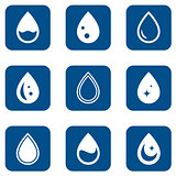 droplet icons set