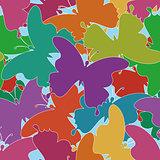 Seamless background, butterflies