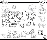 educational task for coloring