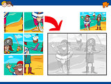 jigsaw puzzle activity with pirates