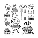 Barbecue grill drawn