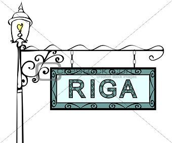 Riga retro vintage pointer lamppost.