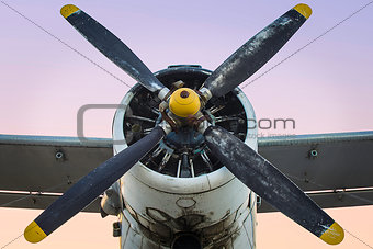 Old Single Engine Propeller Airplane